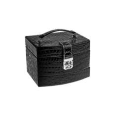 Черная шкатулка для ювелирных украшений Сафари