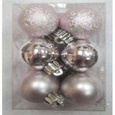 Набор ёлочных игрушек Серебристые шары