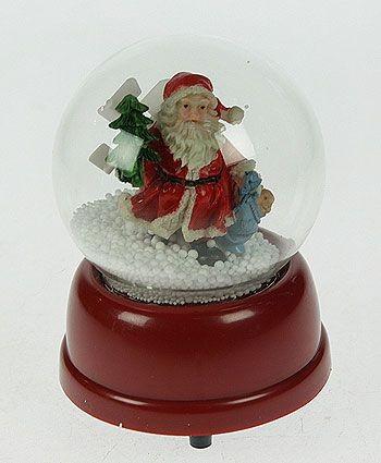Музыкальный шар со снегом Дедушка Мороз