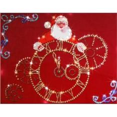 Картина с кристаллами Swarovski Новогоднее время
