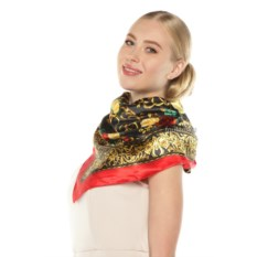 Женский шелковый платок с цветочным орнаментом Quadri