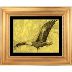 Гравюра из золота Орел