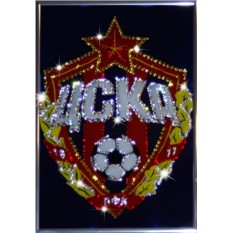 Картина с кристаллами Swarovski Логотип ЦСКА