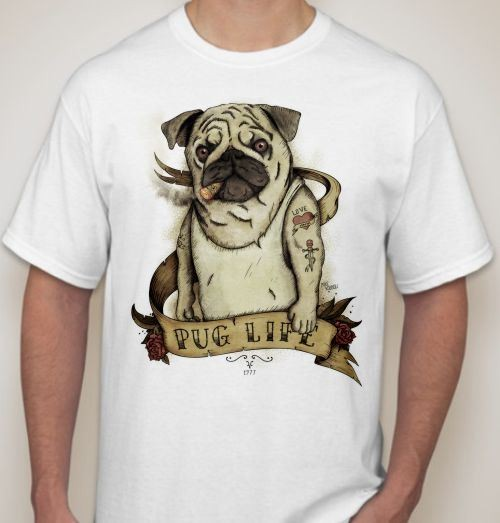 Мужская футболка Pug life