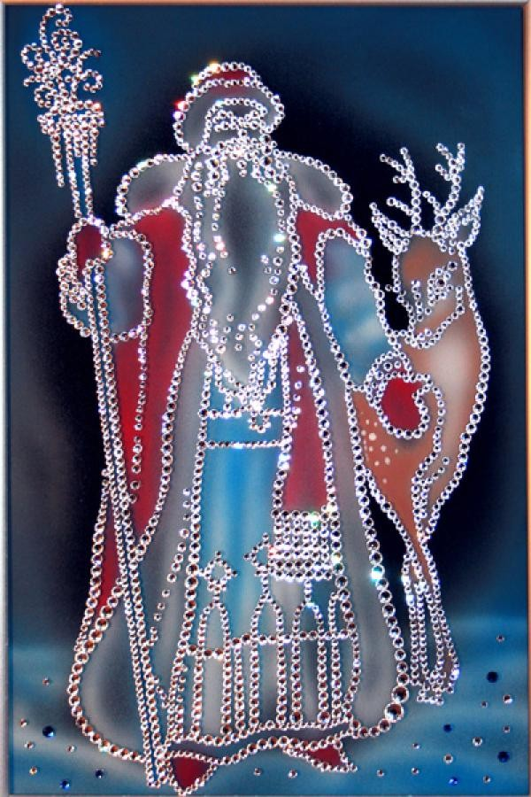 Картина с кристаллами Swarovski Морозко