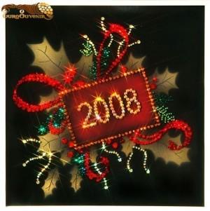 Картина Swarovski Открытка Новогодняя