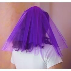Фиолетовая фата для девичника