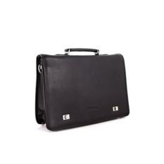 Черный мужской кожаный портфель Giorgio Ferretti