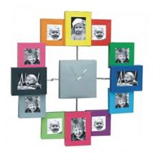 Цветные часы-фоторамка Семейный калейдоскоп