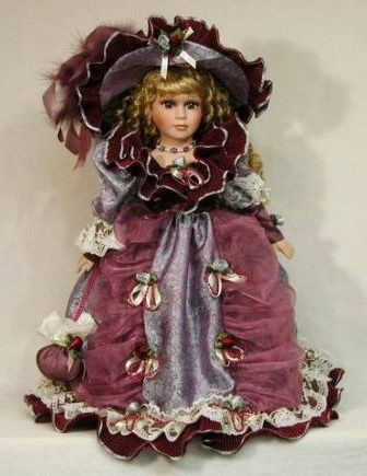 Фарфоровая кукла Диана
