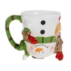 Новогодняя кружка Забавный снеговик