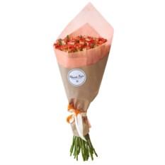 Букет из 25 рыжих роз 40 см в крафте
