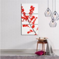 Модульная картина Красная ягода