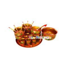 Набор для супа из 21 предмета Хохлома
