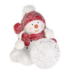 Новогоднее светящееся украшение Снеговик
