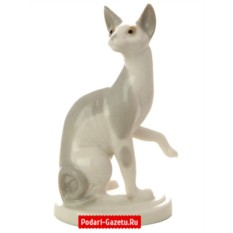 Фарфоровая статуэтка Кошка Сфинкс