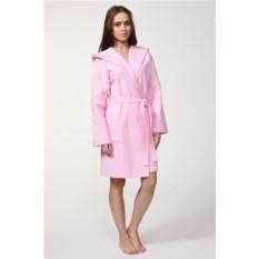 Розовый вафельный халат Convinto Cappucio