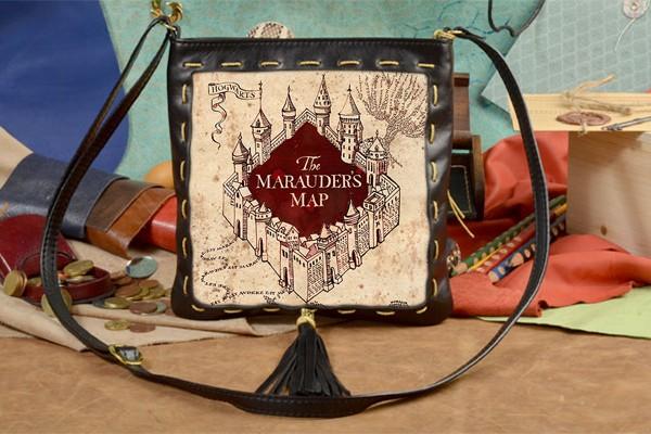 Женская сумка-планшет с принтом Карта Мародеров