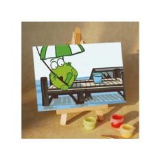 Картины по номерам «Лягушка под зонтом»