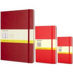 Красная записная книжка в клетку Moleskine Classic