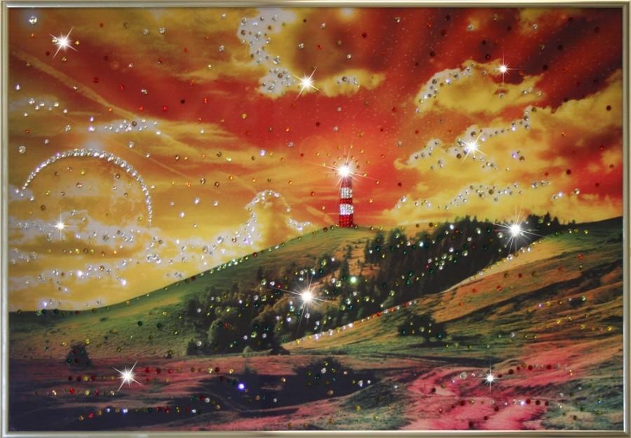 Картина с кристаллами Сваровски На краю Земли