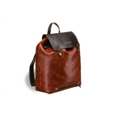 Рыжий кожаный рюкзак Brialdi Laredo
