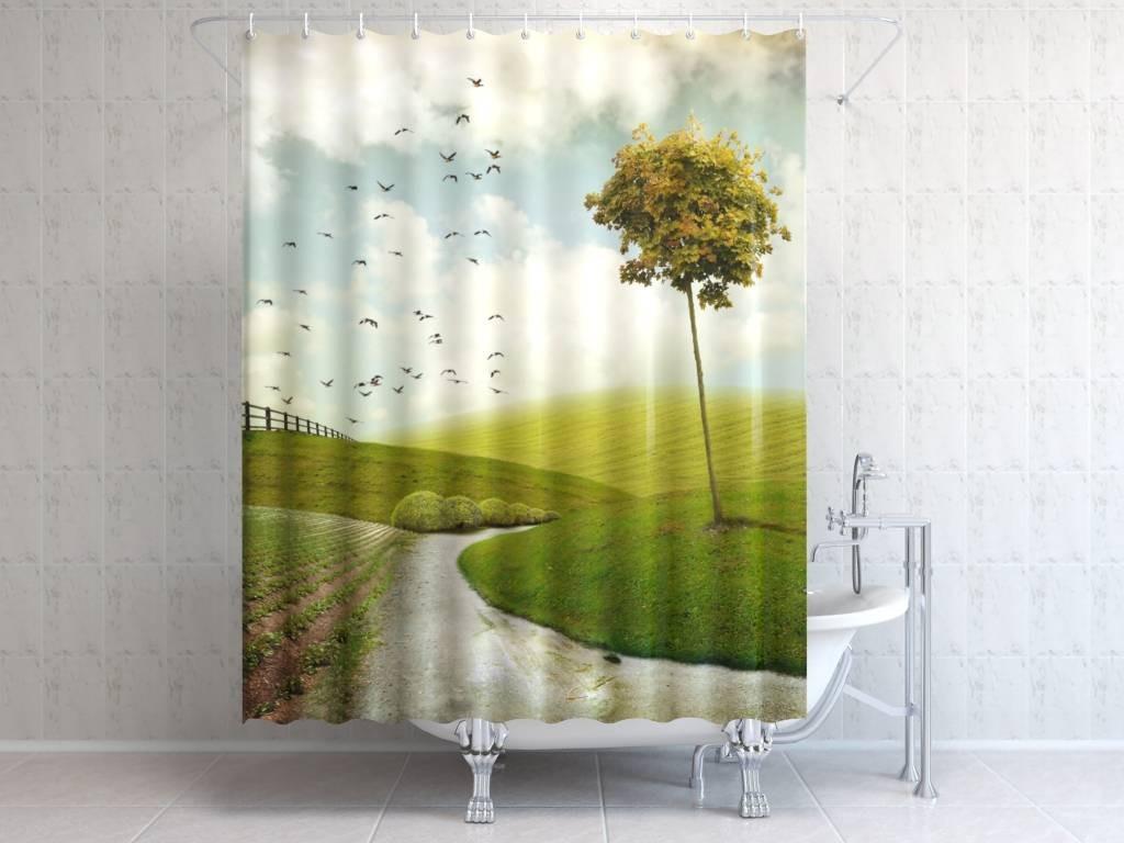 Фотоштора для ванной Дальняя дорога
