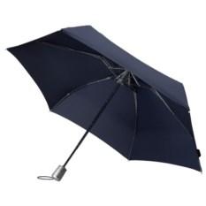 Складной зонт-автомат Alu Drop синего цвета