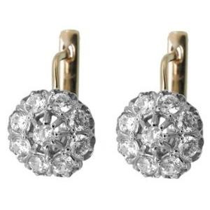 Серьги с 18-ю бриллиантами