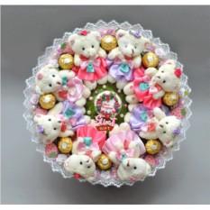 Букет из игрушек и конфет С днем рождения