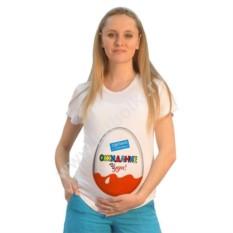 Футболка для беременных Киндер сюрприз. Ожидание чуда
