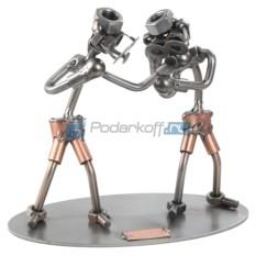 Статуэтка из металла Боксеры