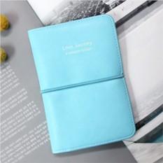 Голубая обложка для паспорта E-passport