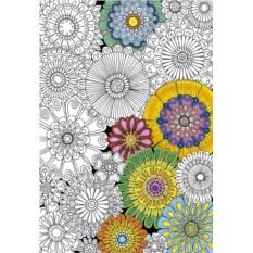 Пазл-раскраска Educa Цветы (300 деталей)