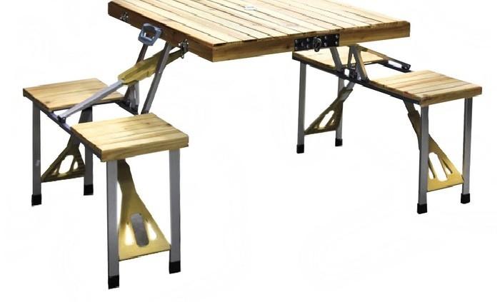 Туристический складной набор мебели, деревянный