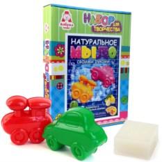 Детский набор для изготовления мыла «Машина и Паровоз»