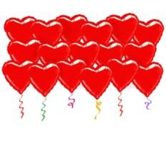 Фольгированные шары под потолок Сердца