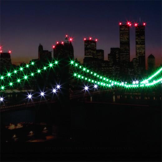 Светодиодная картина Бруклинский мост