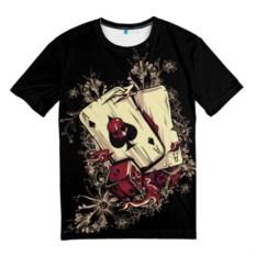 Мужская 3D-футболка Карты дьявола