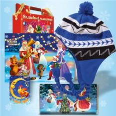 Набор с синей зимней шапочкой