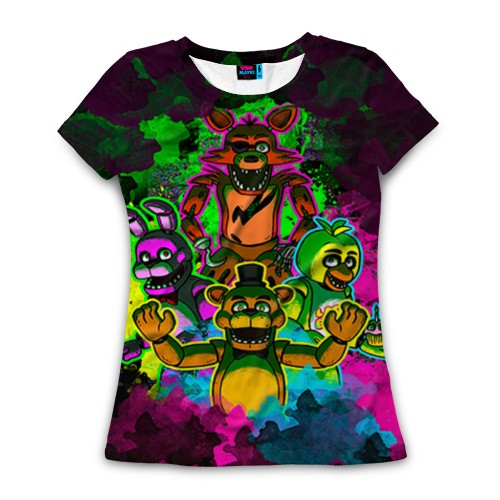 Женская футболка 3D Five Nights At Freddy's