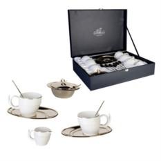 Чайный сервиз Золотой завиток на 6 персон