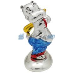 Скульптура Бегемот-бейсболист