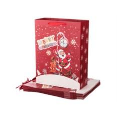 Комплект бумажных пакетов из 12 штук Дед мороз