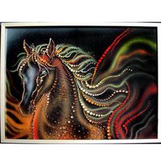 Картина из кристаллов Swarovsk «Пегас»