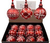 Набор стеклянных шаров Luxury Retro Style, красные