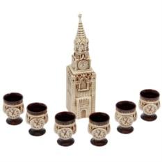 Водочно-коньячный набор Кремль, 7 предметов