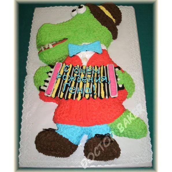 Детский торт «Крокодил Гена»