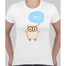 Женская футболка Сова Угу