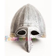Детский шлем богатыря с серебристой полумаской